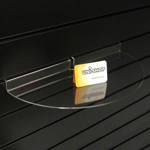 Slatwall Curved Display Shelf