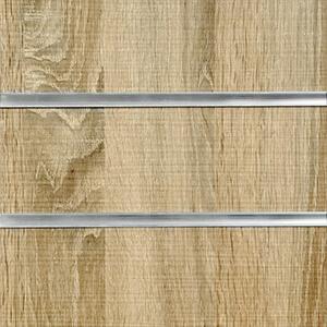 Rustic Oak Deluxe Slatwall